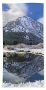 Phi Kappa Mountain Reflected In River Beach Towel