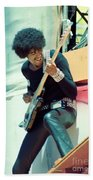 Phil Lynott Of Thin Lizzy - Black Rose Tour Day On The Green 7-4-79  Beach Towel