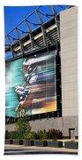 Philadelphia Eagles - Lincoln Financial Field Beach Towel by Frank Romeo
