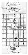 Philadelphia: Map, 1683 Beach Towel