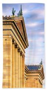Philadelphia Museum Of Art Facade Beach Towel