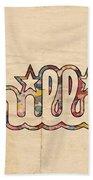 Philadelphia Phillies Poster Art Beach Towel