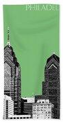Philadelphia Skyline Liberty Place 2 - Apple Beach Towel
