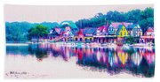 Philadelphia's Boathouse Row On The Schuylkill River Beach Sheet