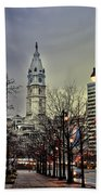 Philadelphia's Iconic City Hall Beach Towel by Bill Cannon