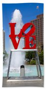 Philadelphia's Love Park Beach Towel