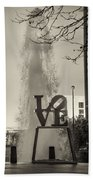 Philadelphia's Love Story In Sepia Beach Towel