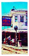 Philadelphia's Pat's Steaks Beach Towel