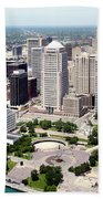 Philip A Hart Plaza Detroit Beach Towel