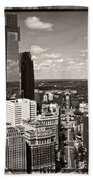 Philly In The Clouds Beach Towel
