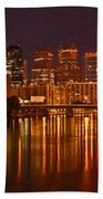 Philly Lights Reflected Beach Towel