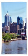 Philly Skyline Beach Towel