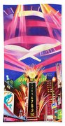 Phish New Years In New York Middle Beach Towel by Joshua Morton