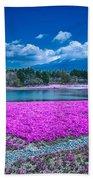 Phlox And Mt. Fuji Beach Towel