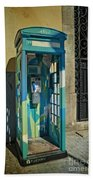 Phone Booth In Blues - Oporto Beach Towel