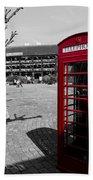 Phone Box London Beach Towel