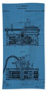 Phonograph Blueprint Patent Drawing Beach Towel