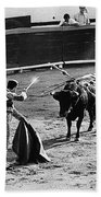 Photographers Including Dick Frontain Bullfight Nogales Sonora Mexico 1969 Beach Towel