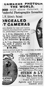 Photography Camera, 1889 Beach Sheet