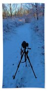 Photography In The Winter Beach Towel