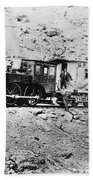 Photography Railroad Car Beach Sheet