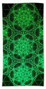Photon Interference Fractal Beach Towel
