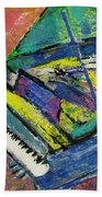 Piano Blue Beach Towel