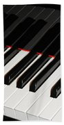 Piano Keys Beach Towel