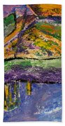 Piano Purple Beach Towel