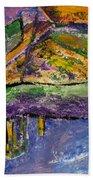 Piano Purple Beach Towel