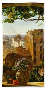 Piazza Barberini In Rome Beach Towel