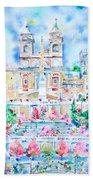 Piazza Di Spagna - Rome Beach Towel