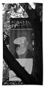 Picasso In Black And White Beach Towel