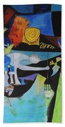 Picasso   Night Fishing At Antibes Beach Towel