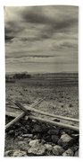 Picketts Charge The Angle Black And White Beach Towel