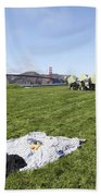 Picnicking At Golden Gate Park Beach Towel