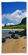 Picture Perfect Haena Beach Beach Towel