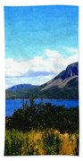 Picture Perfect In Painterly Style Beach Towel