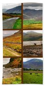 Autumn Picture Window Of The Lake District Beach Towel