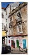 Picturesque Houses In Lisbon Beach Towel