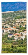 Picturesque Mediterranean Island Village Of Kolan Beach Towel