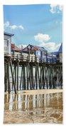 Pier At Low Tide Beach Towel