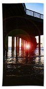 Pier At Sunset Beach Towel