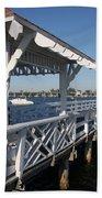 Clock Tower Pier Beach Towel