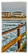 Pier Fishing 2 Beach Towel