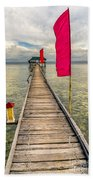 Pier Flags Beach Towel