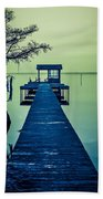 Pier On The Lake Beach Towel