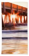 Pier Sunrise Too Beach Towel