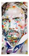 Pierre-auguste Renoir Watercolor Portrait Beach Towel
