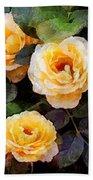 Pierre's Peach Roses Beach Towel
